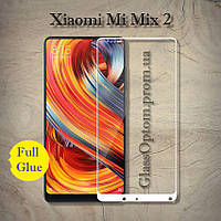 Защитное стекло 3D AndSer Full Glue на Xiaomi Mi Mix 2 / Mix 2S  цвет Белый