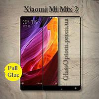 Защитное стекло 3D AndSer Full Glue на Xiaomi Mi Mix 2 / Mix 2S  цвет Черный