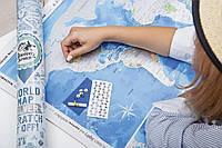Скретч-карта мира Discovery Map англ.