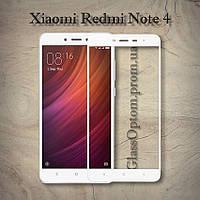 Защитное стекло 2.5D на весь экран для Xiaomi Redmi Note 4 / 4Pro цвет Белый