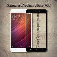 Защитное стекло 2.5D на весь экран для Xiaomi Redmi Note 4X Snapdragon цвет Черный