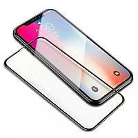 Защитное стекло 2.5D на весь экран (с клеем по всей поверхности) для iPhone X цвет Черный
