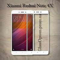 Защитное стекло 2.5D на весь экран для Xiaomi Redmi Note 4X Snapdragon цвет Белый