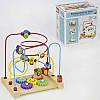 Пальчиковый лабиринт C31453 обучающая деревянная игра с фигурками фруктов шестеренки в коробке 3 вида