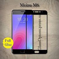 Защитное стекло 2.5D на весь экран (с клеем по всей поверхности) для Meizu M6 цвет Черный