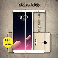 Защитное стекло 3D AndSer Full Glue на Meizu M6S цвет Белый