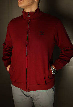 Толстовка зимняя мужская Adidas. Бордо, фото 2