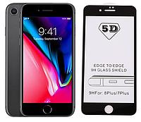 Защитное стекло 5D Full Cover для iPhone 7 Plus / 8 Plus цвет Черный