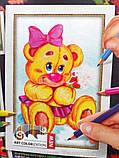 Картины-раскраски карандашами 'Мишка' девочка (PBN-01-05), фото 2