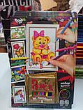 Картины-раскраски карандашами 'Мишка' девочка (PBN-01-05), фото 4