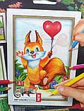 Картины-раскраски карандашами 'Белочка' (PBN-01-06), фото 2