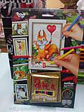 Картины-раскраски карандашами 'Белочка' (PBN-01-06), фото 3