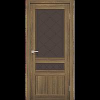 Двери Корфад Cl-05 дуб браш, бронза стекло
