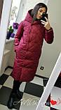 Жіноча зимова куртка подовжена Стьобаний плащівка Канада Розмір 42-44 44-46 48-50 52-54 В наявності 5 кольорів, фото 2