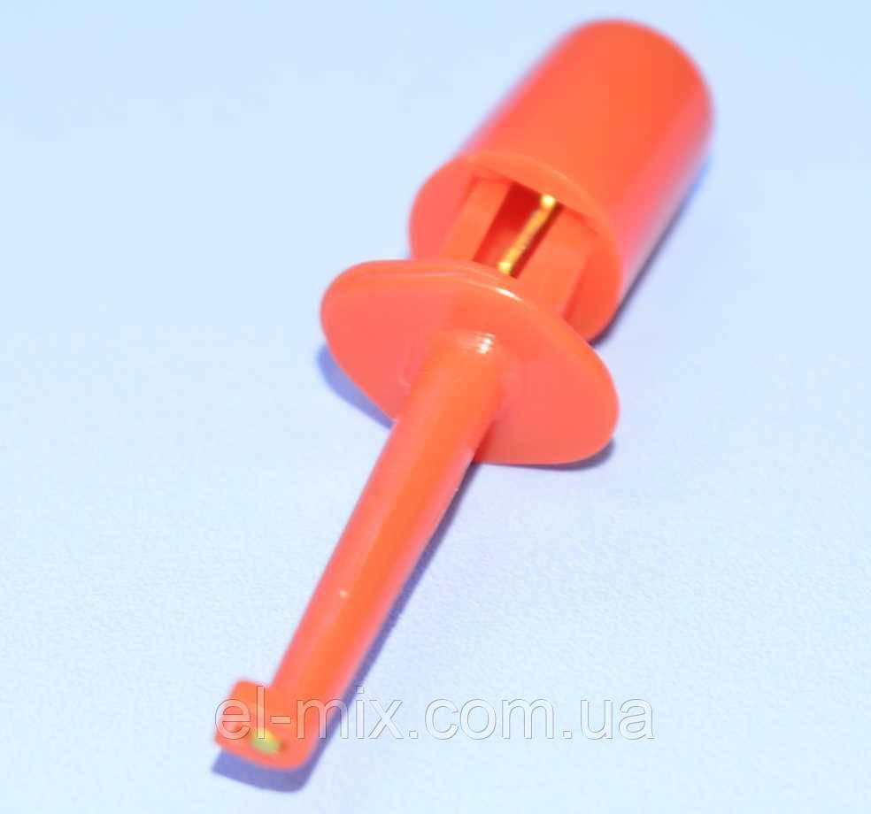 Щуп-затискач типу гачок, малий, червоний 12-0970
