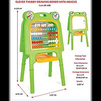 Детская Двухсторонняя Доска 03-406 со счетами для рисования Blackboard With Abacus