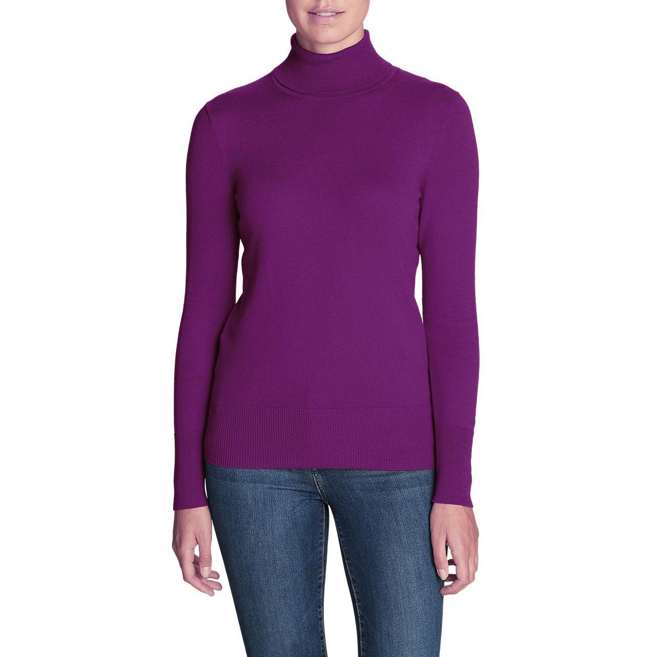 Пуловер женский Eddie Bauer Womens Christine Turtleneck Sweater HTR MULBERRY
