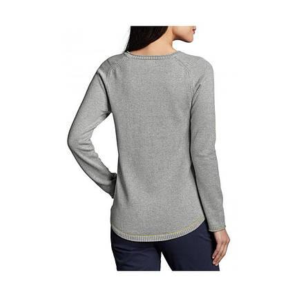 Пуловер женский Eddie Bauer Womens Sweatshirt Sweater Henley Solid HTR GRAY, фото 2
