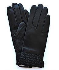 Женские кожаные перчатки с шерстяной подкладкой, фото 2