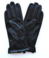 Женские кожаные перчатки с шерстяной подкладкой, фото 3