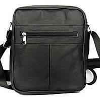 Шкіряна сумка для чоловіків чорного кольору через плече (к-0203) 697fdba96db98