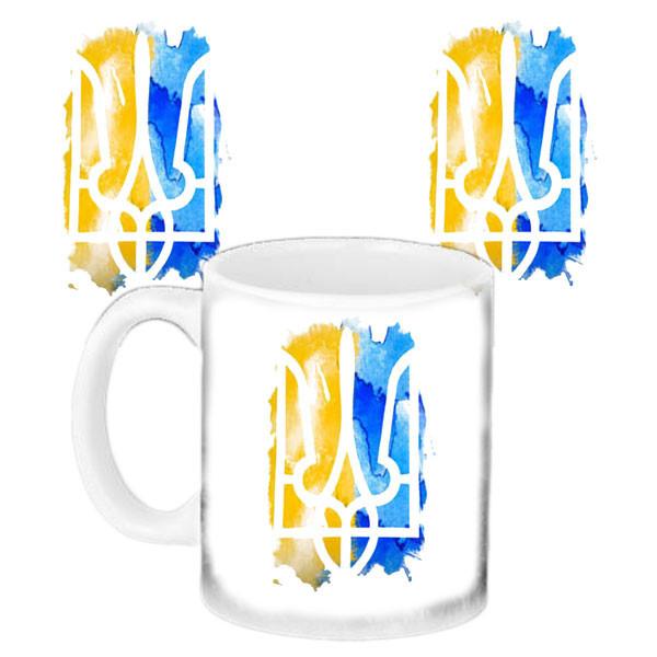 Чашка Moderika белая с рисунком  Тризубец (33013)
