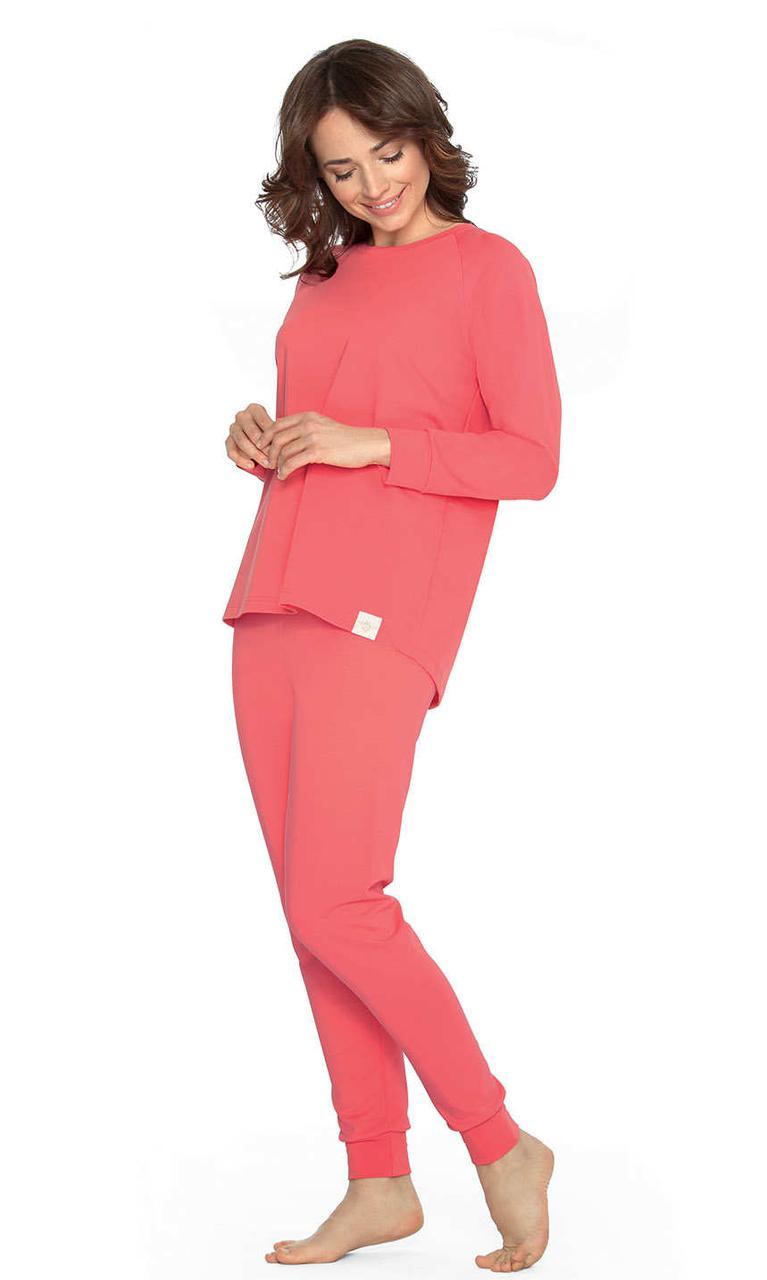 Домашній костюм-піжама коралового кольору Wadima 104451
