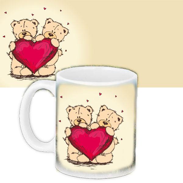 Чашка Moderika белая с рисунком  Мишка Тедди (33020)