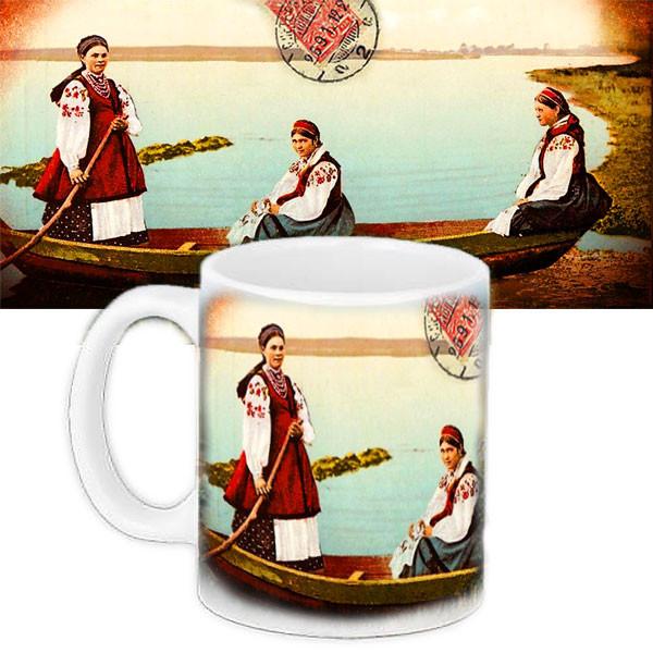 Чашка Moderika белая с рисунком  Традиции предков (33042)
