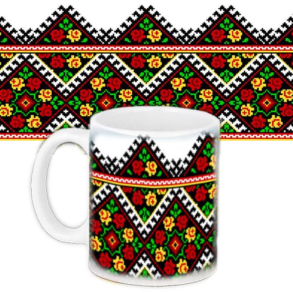 Чашка Moderika белая с рисунком Традиционный орнамент (33047)