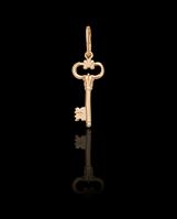 Золотой Кулон Ключ новый (0,6)