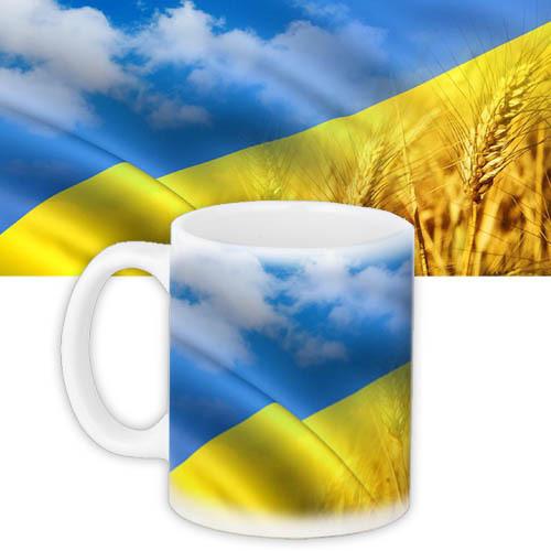 Чашка Moderika белая с рисунком Украинские поля (33069)