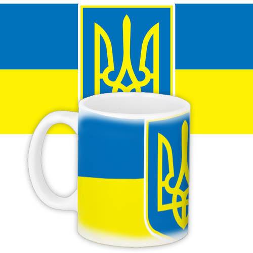 Чашка Moderika белая с рисунком Украинская символика  (33095)