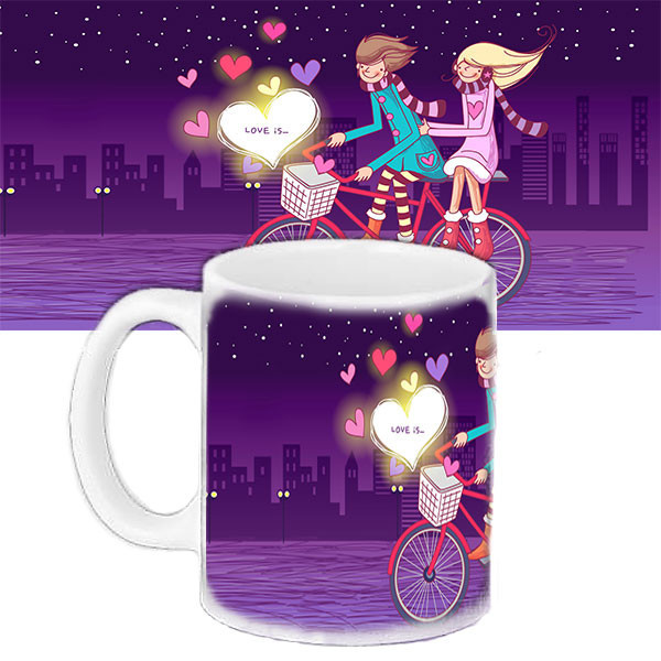 Чашка Moderika белая с рисунком Любовь (33113)
