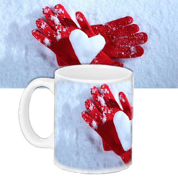 Чашка Moderika белая с рисунком Сердце  (33121)
