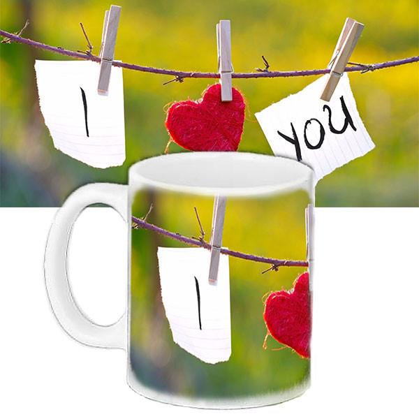 Чашка Moderika белая с рисунком Я люблю тебя (33141)