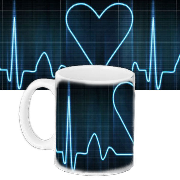 Чашка Moderika белая с рисунком Сердце  (33150)