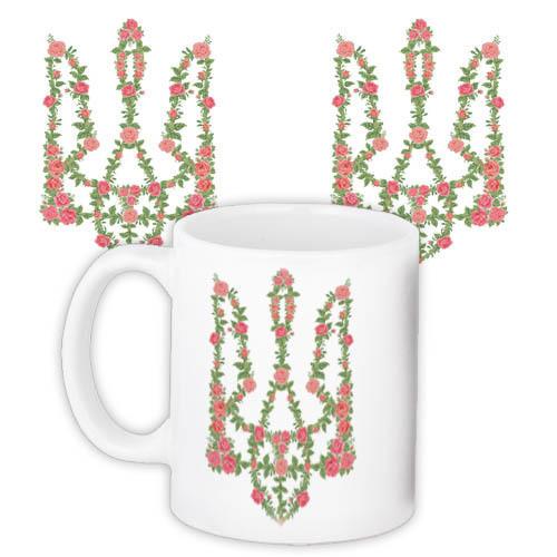 Чашка Moderika белая с рисунком Украина (33158)