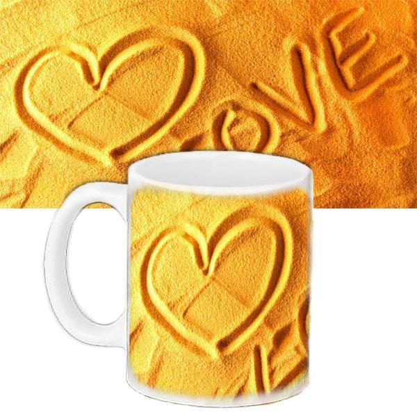 Чашка Moderika белая с рисунком Любовь (33170)