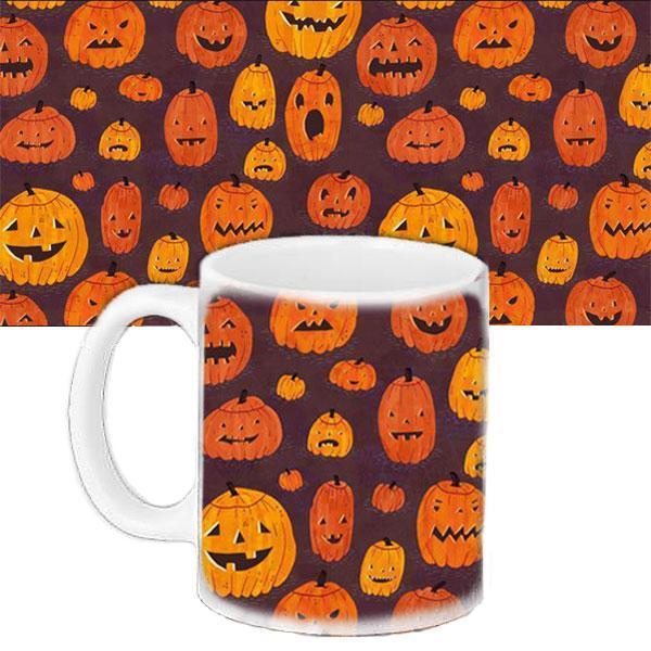 Чашка Moderika белая с рисунком Halloween тыквы (33171)