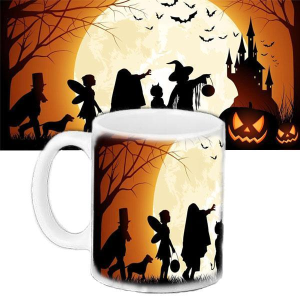 Чашка Moderika белая с рисунком  Хеллоуин Halloween Party (33173)