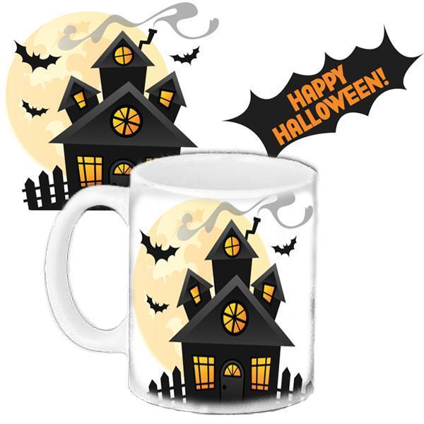 Чашка Moderika белая с рисунком Хеллоуин Happy Halloween  (33178)
