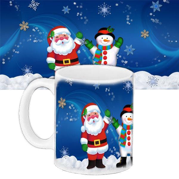 Чашка Moderika белая с рисунком Дед Мороз  (33200)