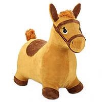 Игрушка прыгун Лошадка iLearn Yellow Hopping Horse, Outdoors Ride On Bouncy Animal Play Toy, фото 1