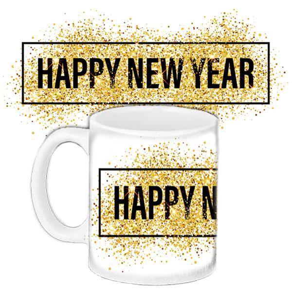 Чашка Moderika белая с рисунком Happy New Year  (33217)