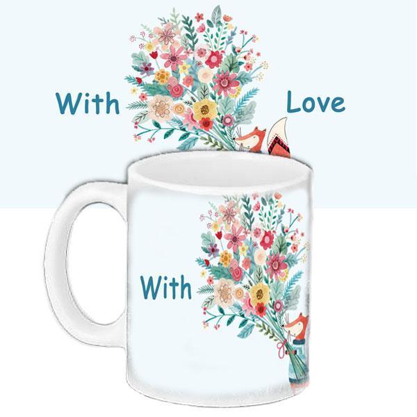 Чашка Moderika белая с рисунком С любовью (33262)