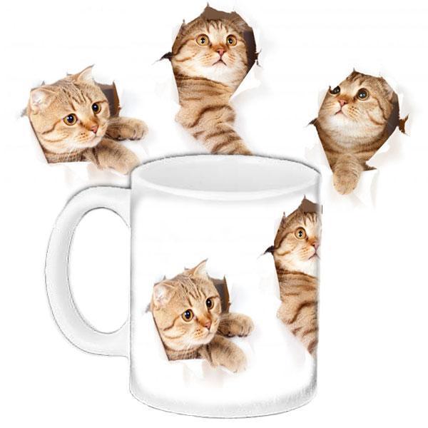Чашка Moderika белая с рисунком Милые коты (33274)