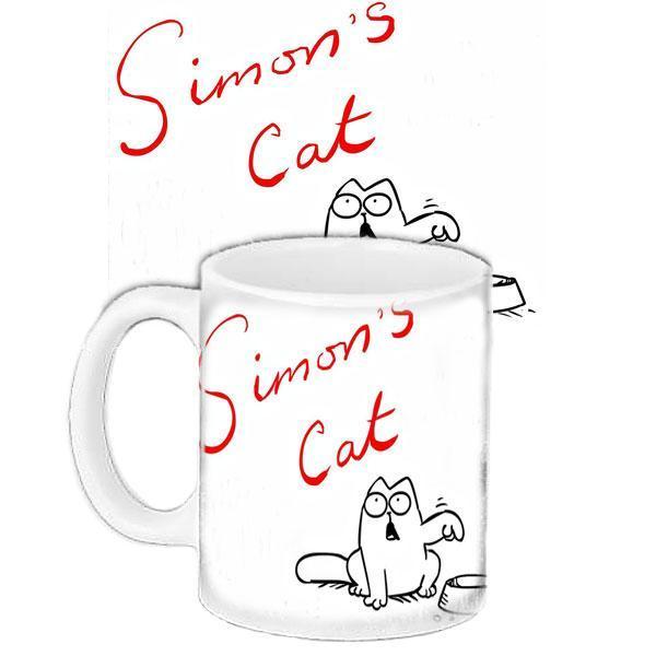 Чашка Moderika белая с рисунком Саймонс кэт (33277)