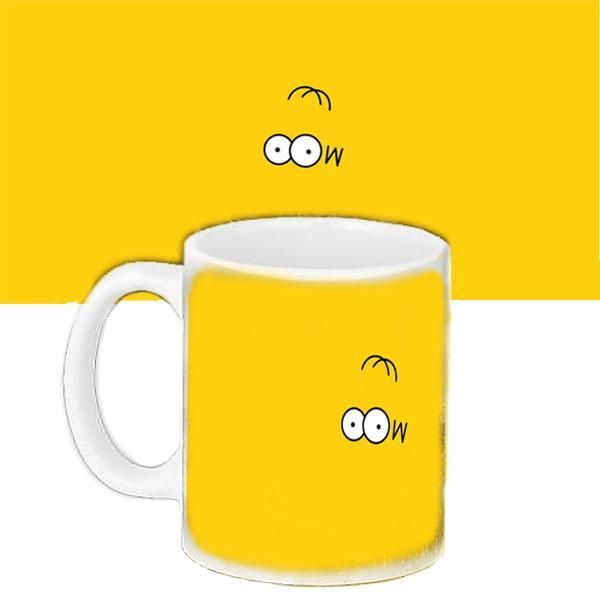 Чашка Moderika белая с рисунком Глаза Гомера Симпсоны (33291)