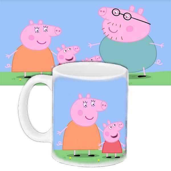 Чашка Moderika белая с рисунком Мультфильм Семья Пеппы  (33325)